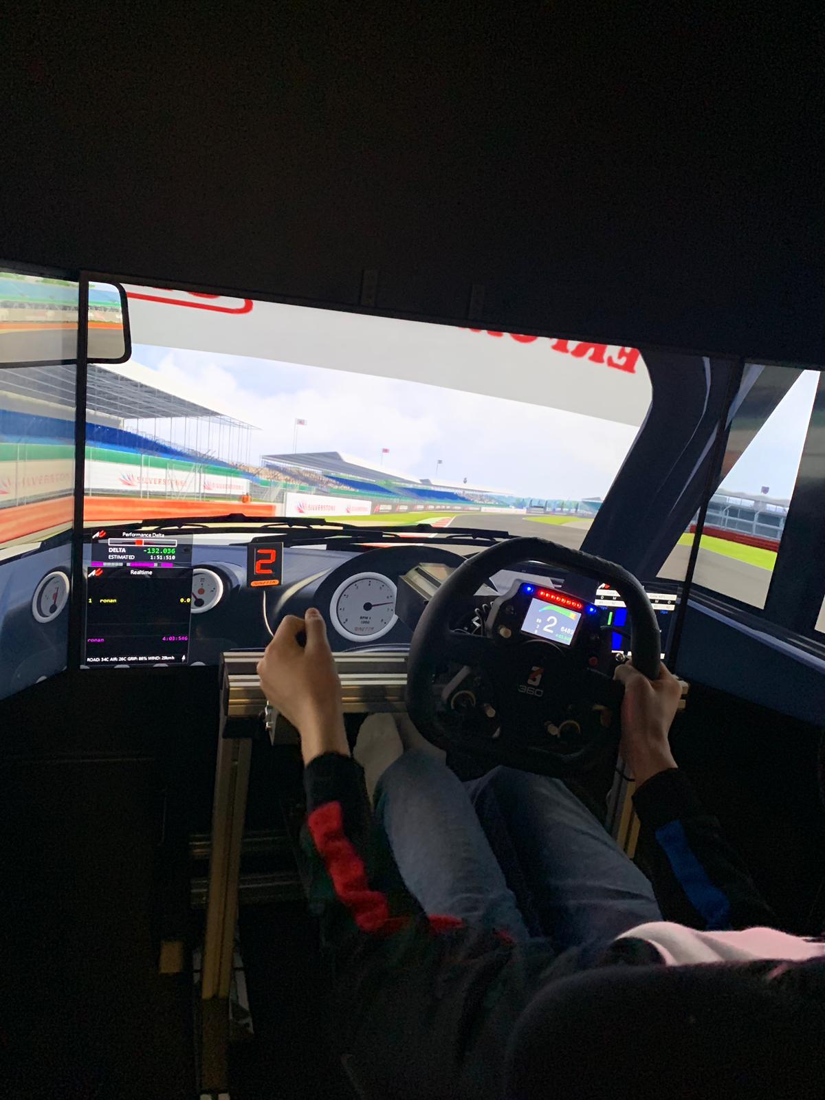 Gt car racing simulation training