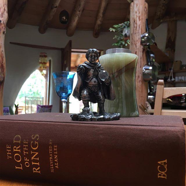 Look who we found hiding in Barnardo's charity shop in Elgin. Frodo has a new hobbit home now!