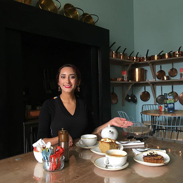 Look what we found @brodiecastlents a quaint old fashioned kitchen tea room that serves the most delicious cake! #coffeeandcake #scottishcastles #morayspeysidetourism