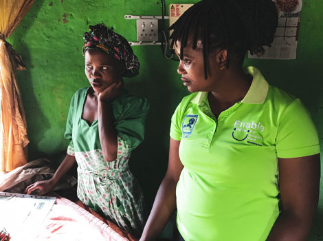 ENABLE - Our Mentor Mothers provide in-home healthcare and support that is transforming the lives of vulnerable mothers and babies, and building the foundation for a healthier future for the whole community in Mankosi, South Africa.Click to find out more…