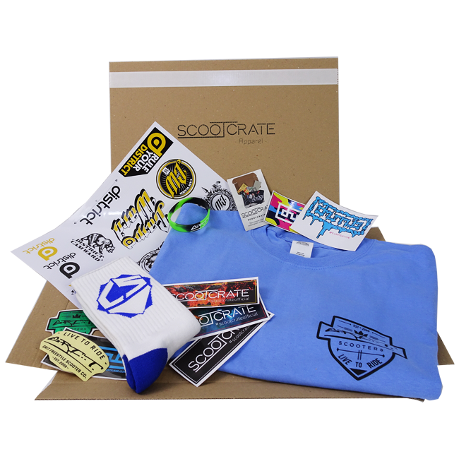 Example ScootCrate Apparel!