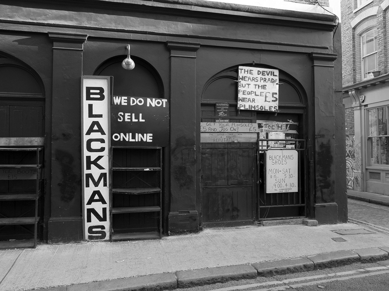 Blackmans Shoes, Cheshire St, Shoreditch.    Find more of  my photos on Flickr .