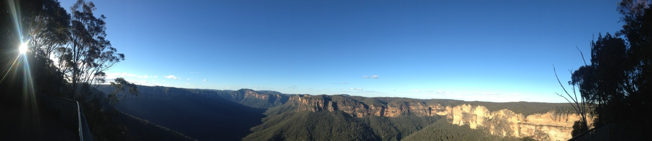 Evans Lookout, Blackheath, NSW    The reward for ascending some 1000 steps out of the Grand Canyon in the Blackheath area of the Blue Mountains. You can start the circular walk from here, but I prefer to end with this breathtaking view.   Click image to see hi-res.