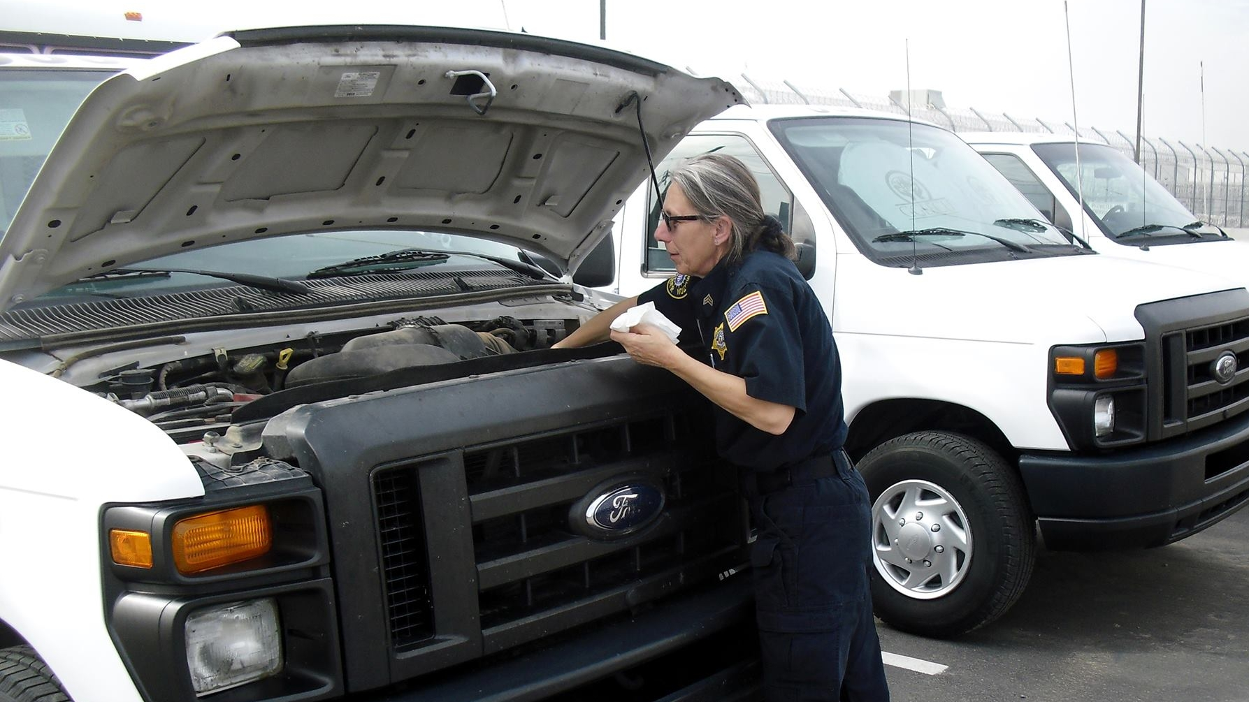 Staff are trained in all aspects of their duties, from security to vehicle inspection.
