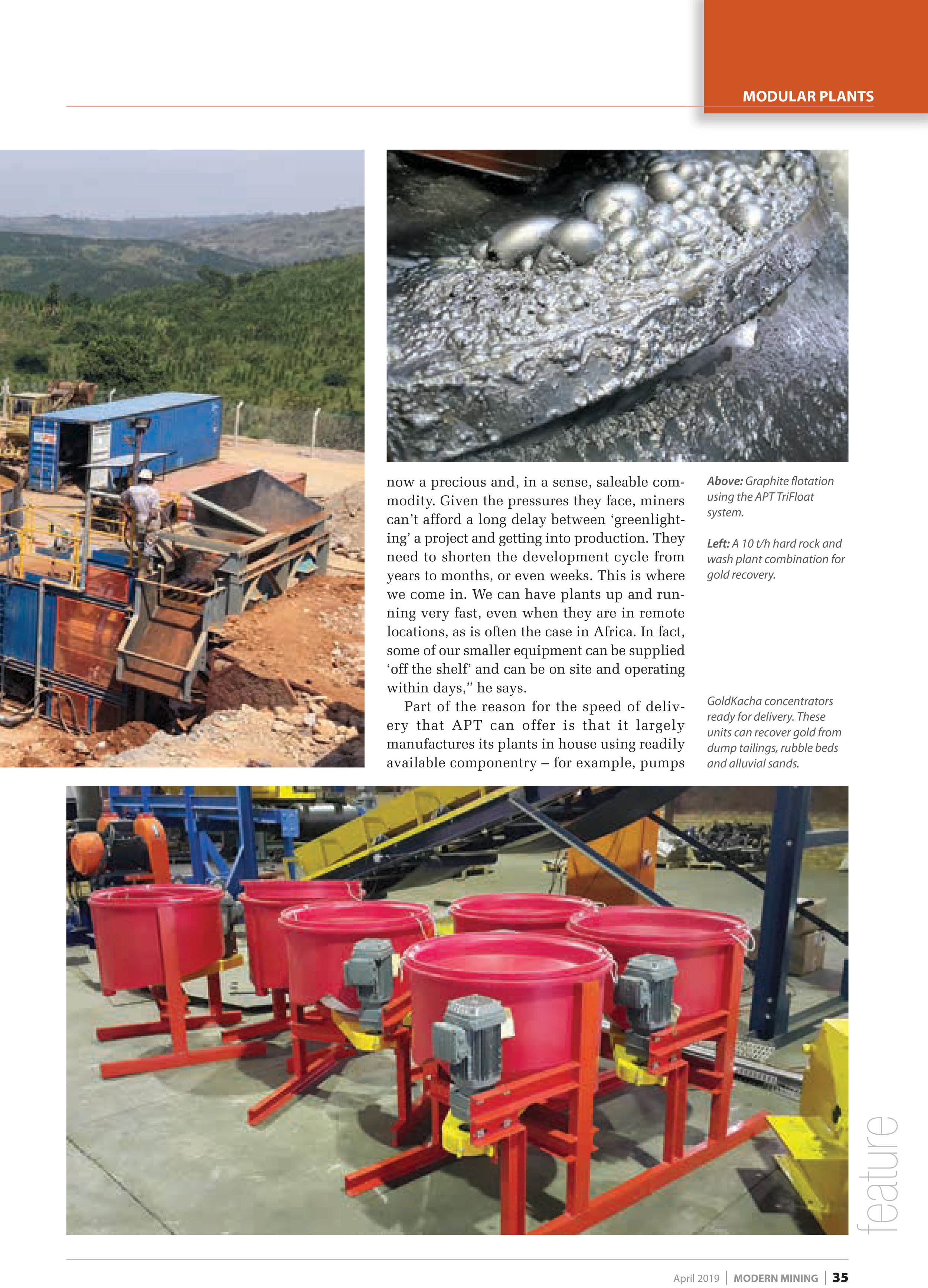 Credit to Modern Mining, April 2019 Issue, Page 37