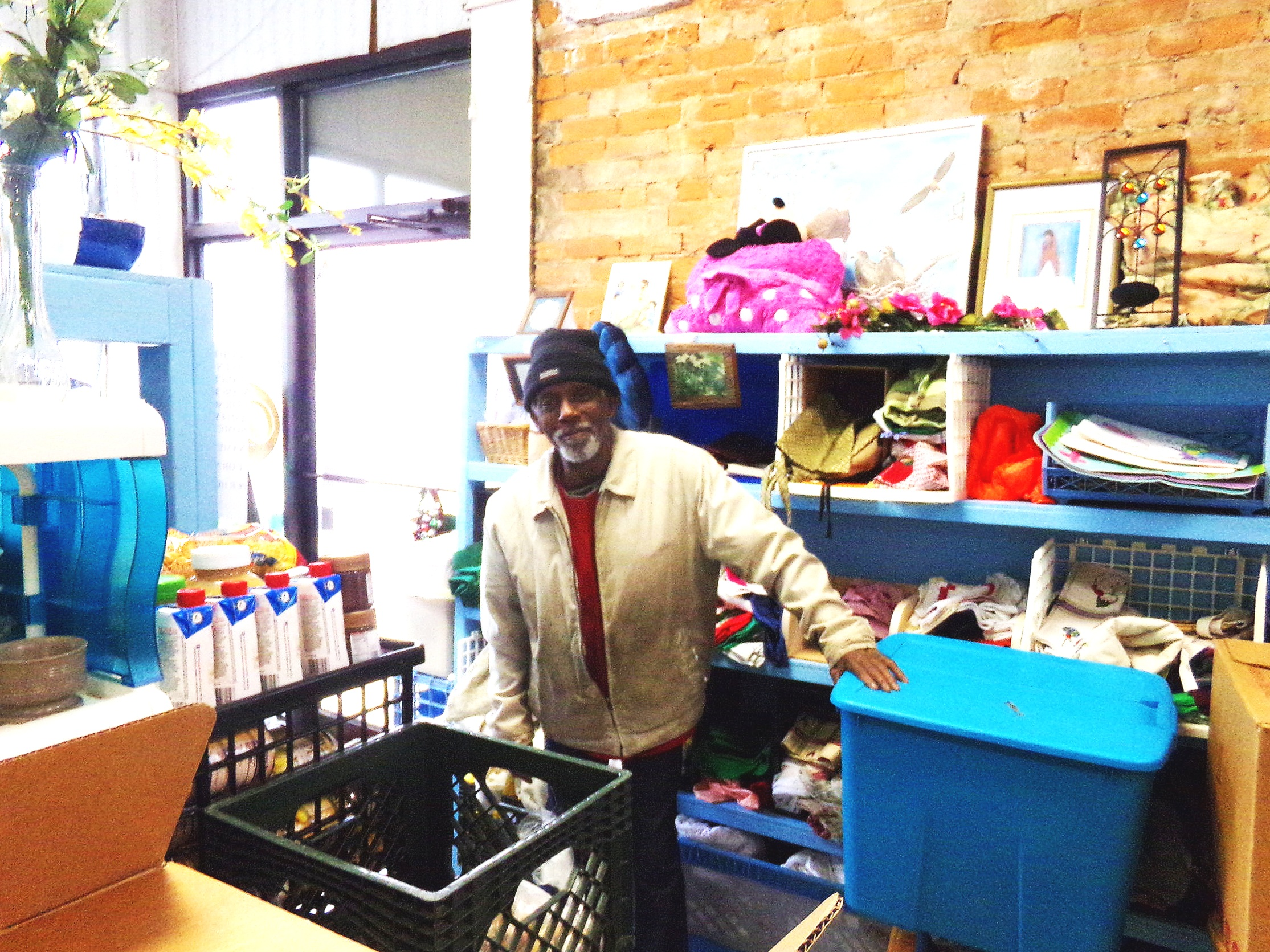 John, a volunteer and community member, is just one of the many who help keep Camp Cupboard and Closet running
