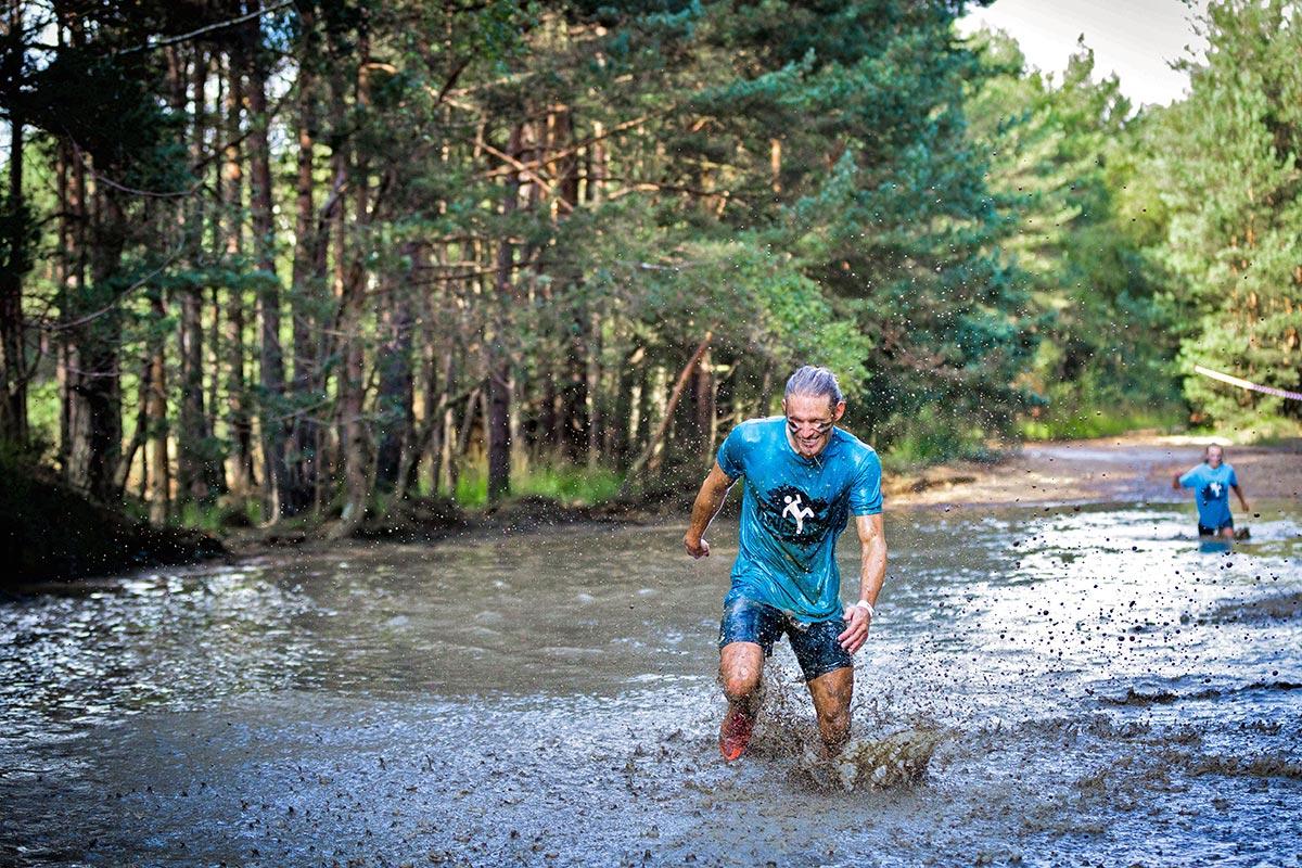 Wading through the muddy pond