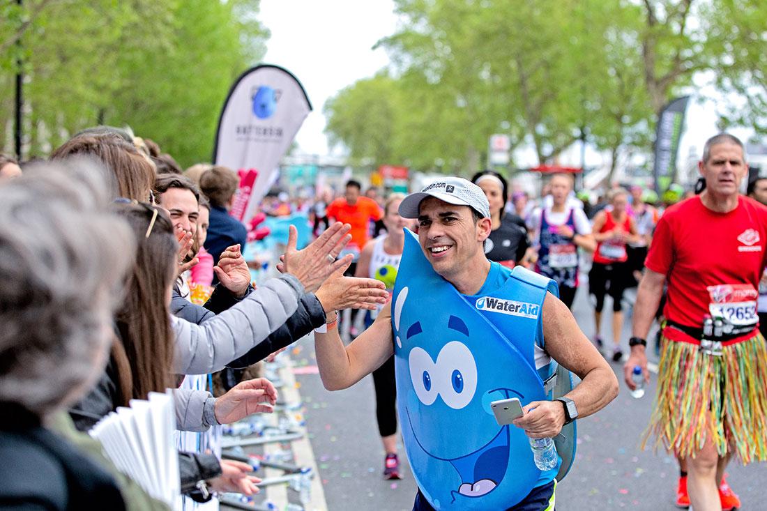 Water Aid at the Virgin London Marathon