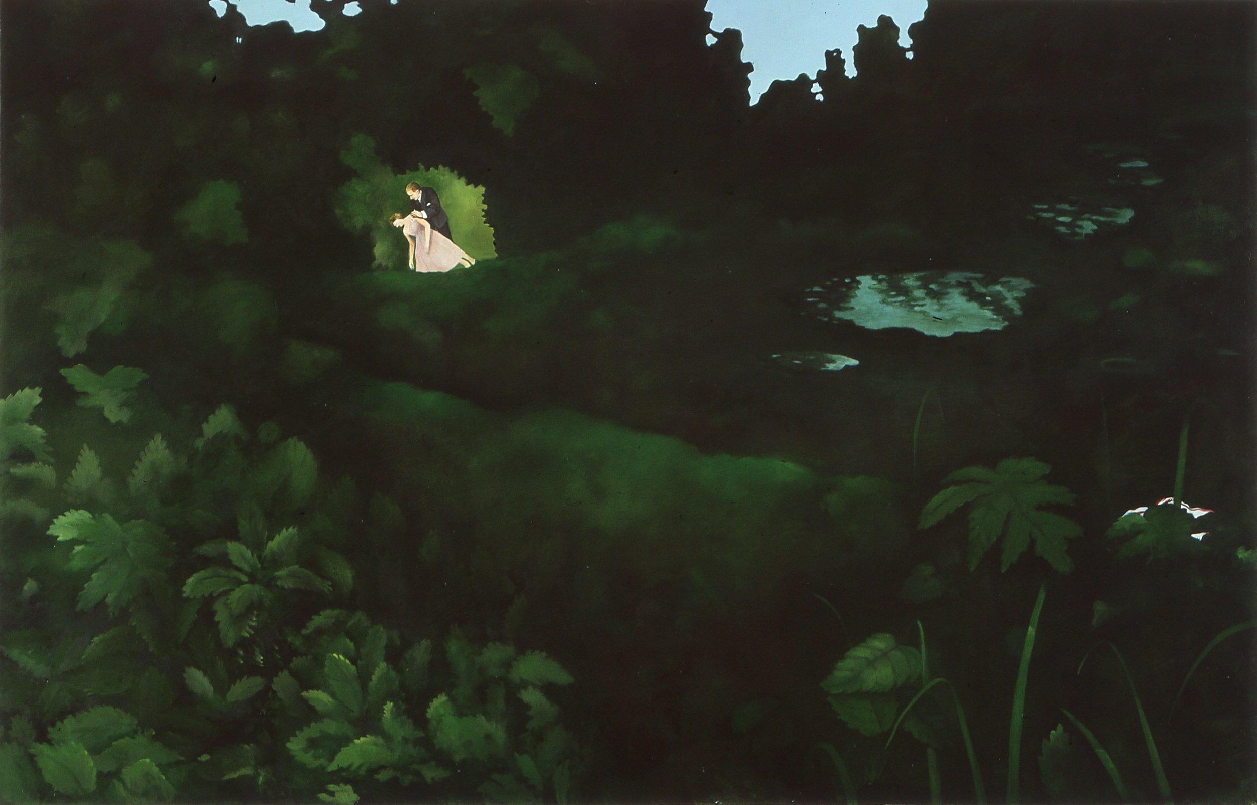 Lynhypnose i skogen  73x115cm opl 2003