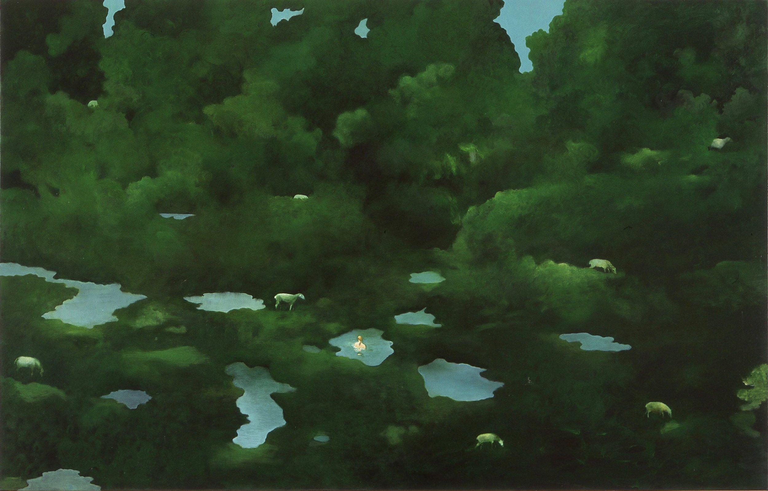Skumringsbader  73x115cm opl 2003