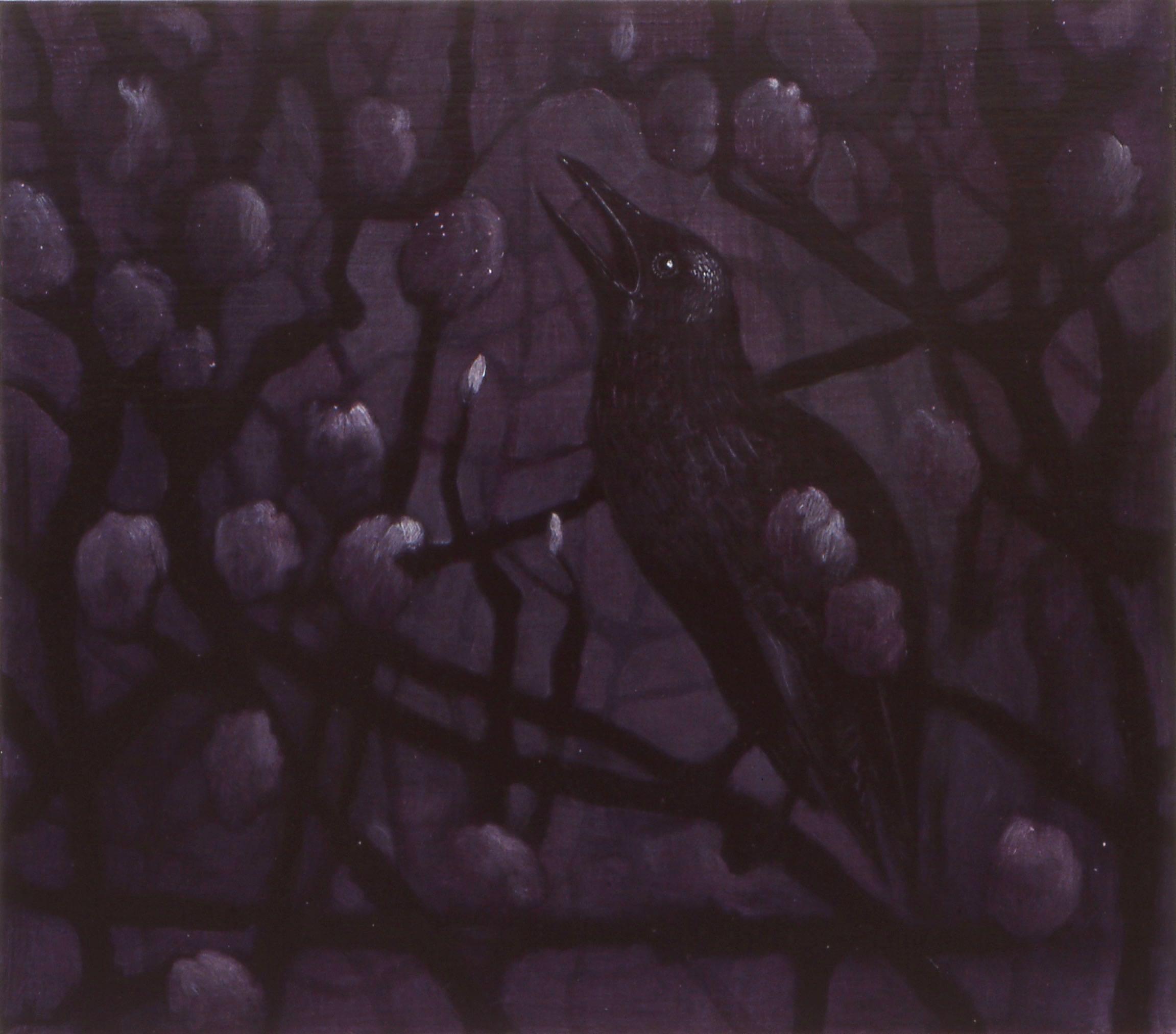fra serien  Om natten   27x31 cm olje/akryl på plate 2000