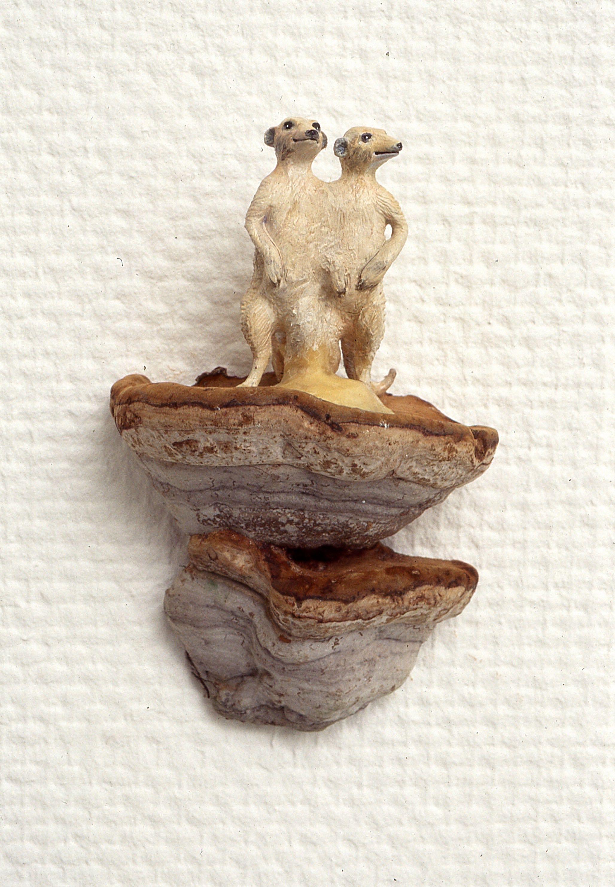 Antropomorf oppstilling, Siamesisk  kjuke, plastfigur, voks, 2000