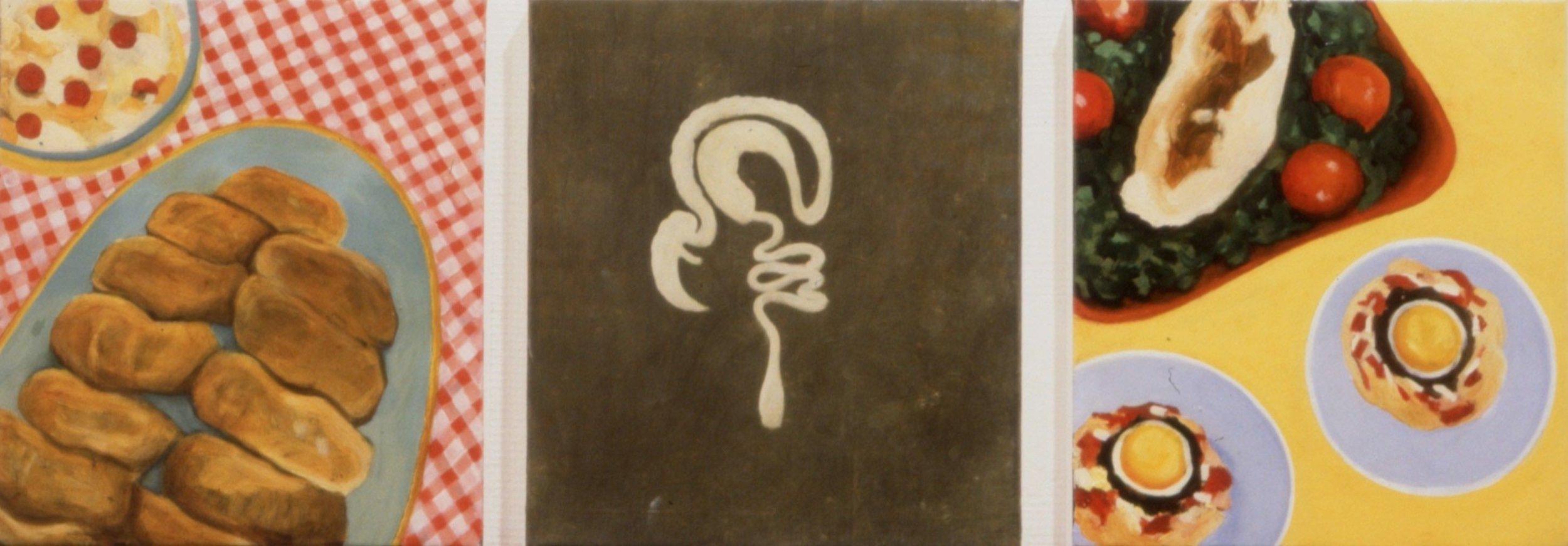 fra serien Mat og organer  (30x27)cm x 3 opl 1996