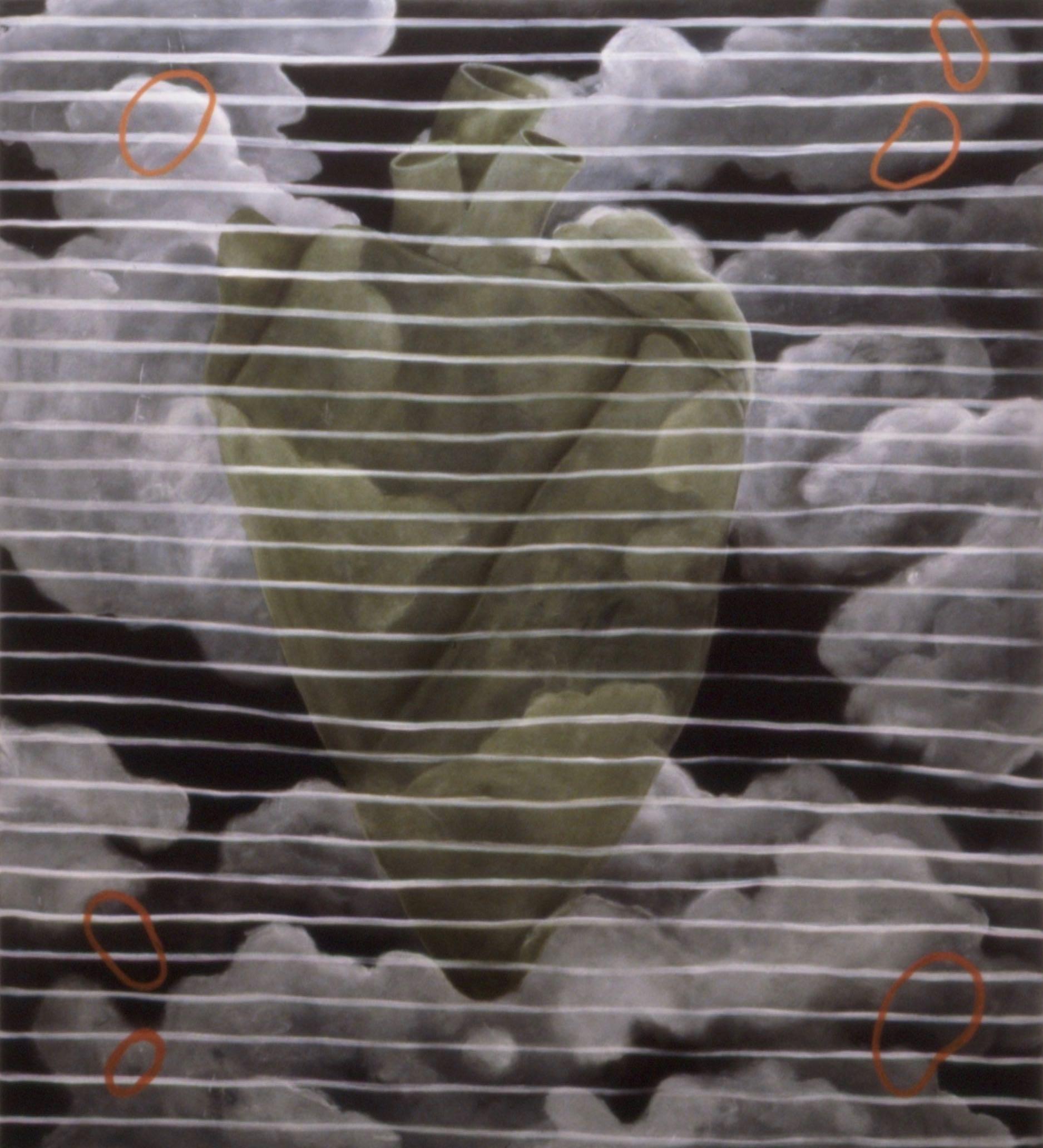 Stort grønt hjerte  150x140 cm opl 1996