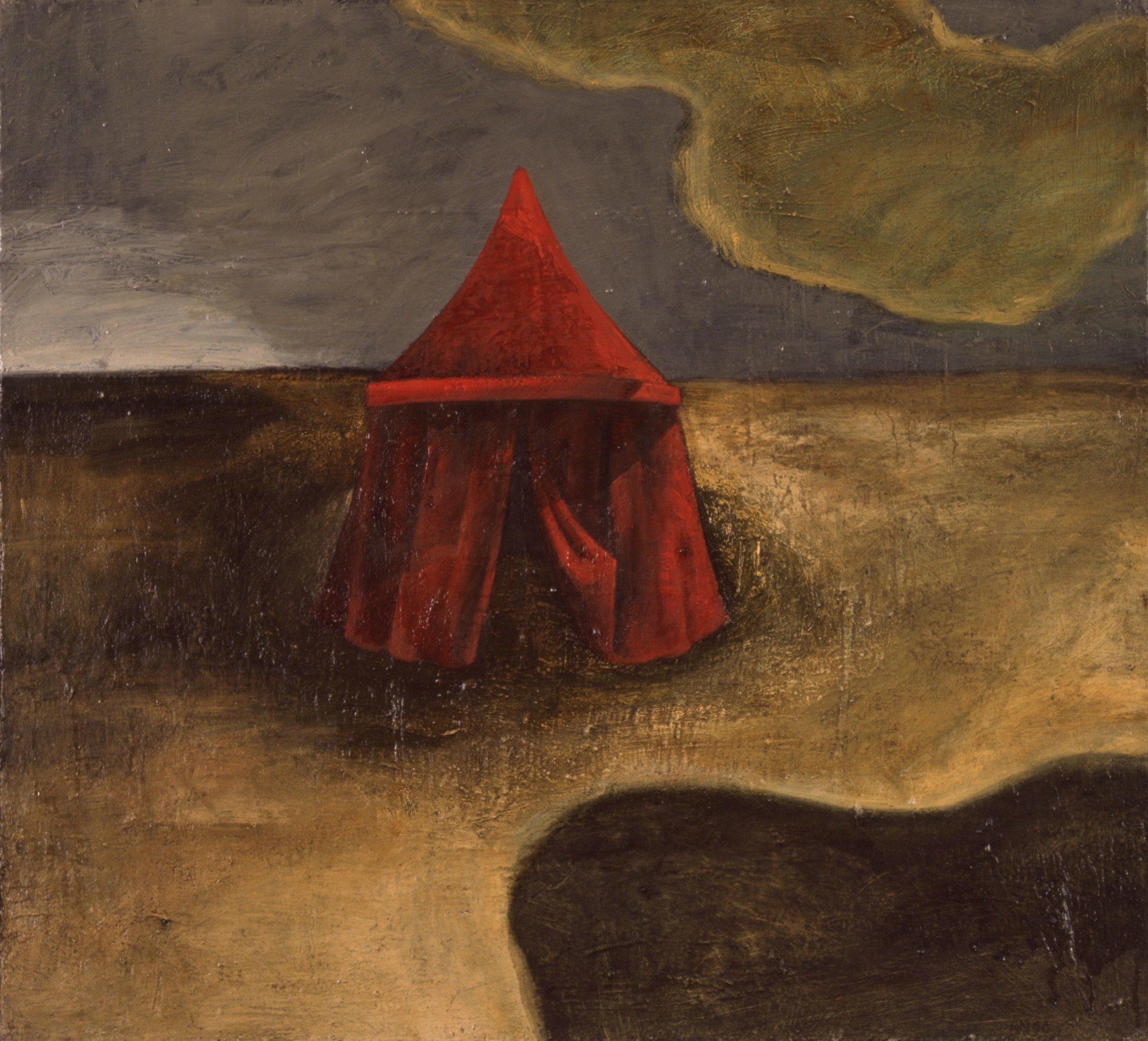 Rødt telt   66x73 cm opl 1991