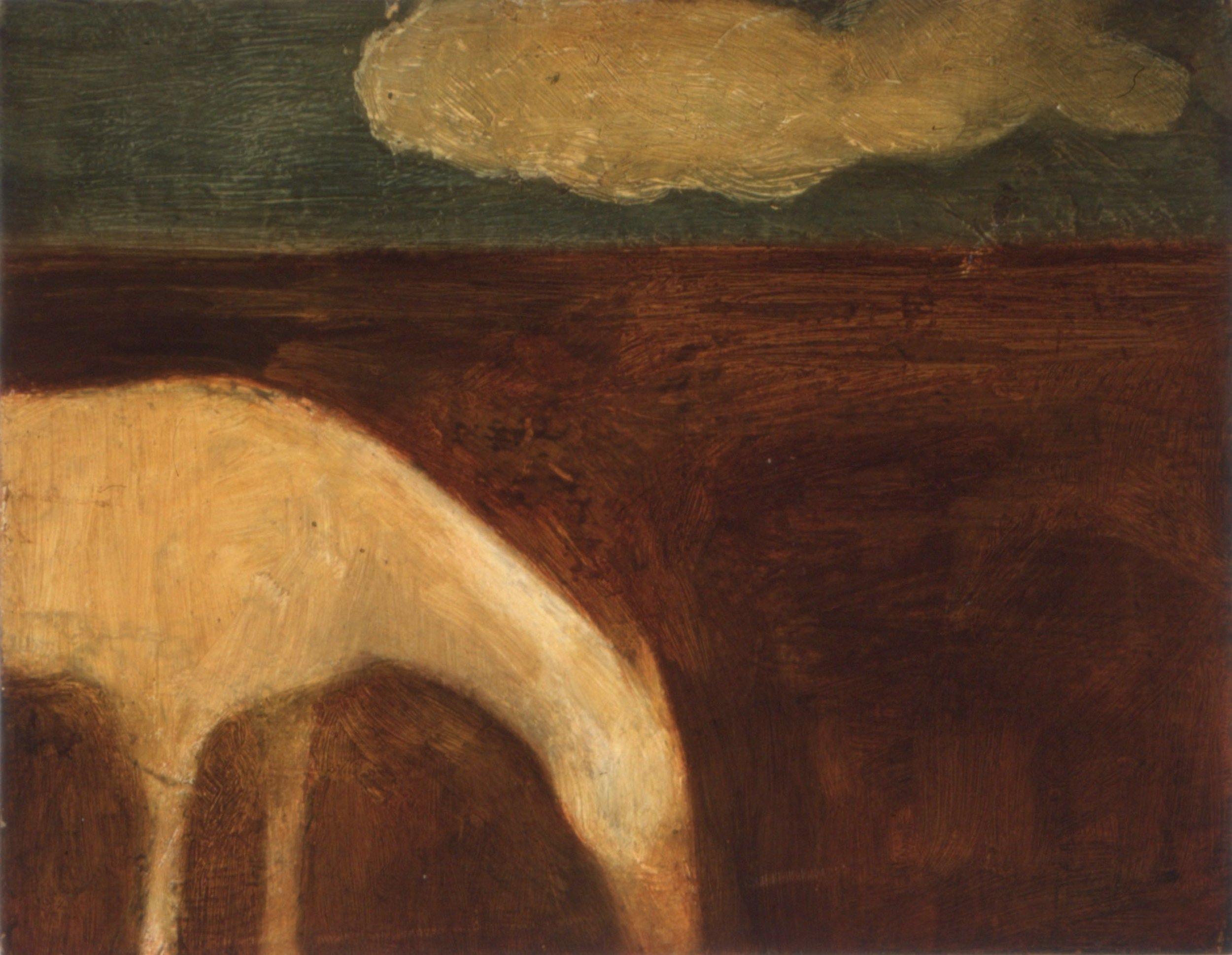 Hest   15,5x20 cm olje på plate 1992