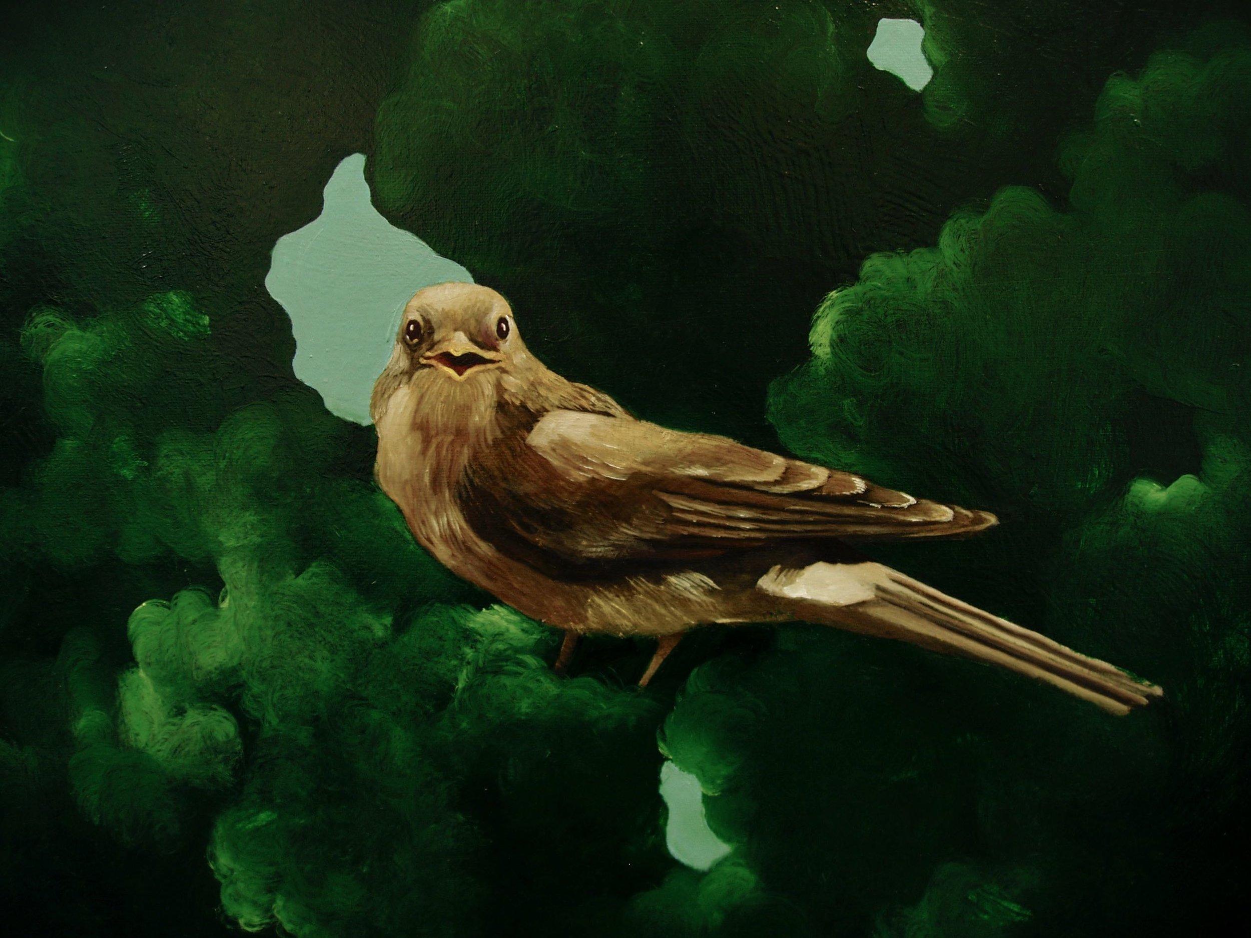 Birds, tell me, detalj  99x125cm opl 2004