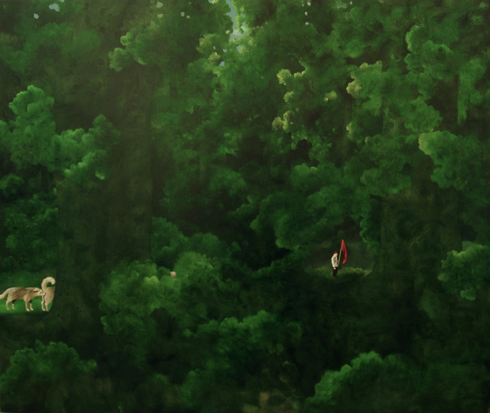 In the woods  99x125cm opl 2004