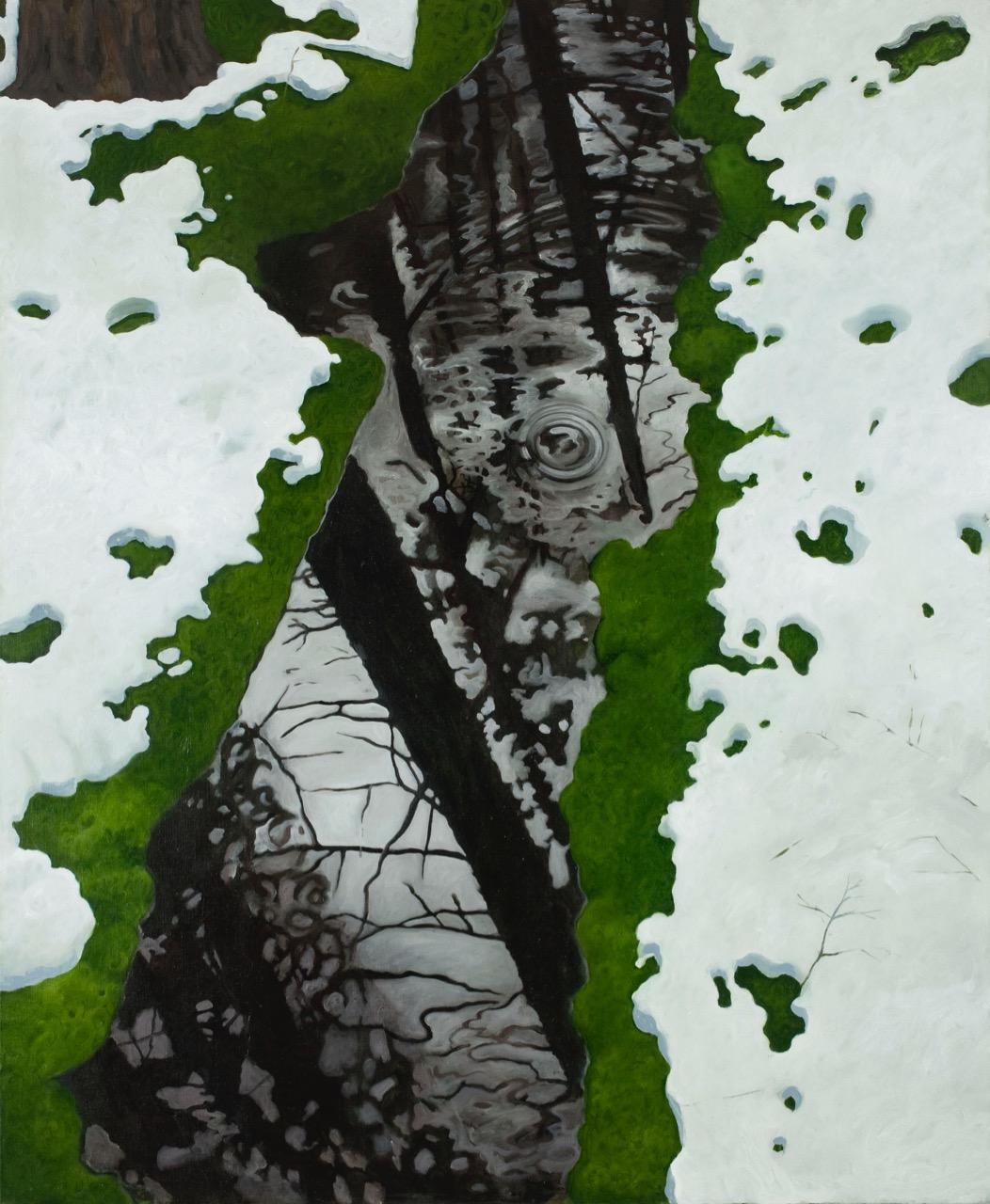 Snø og vann  140x115cm opl 2009