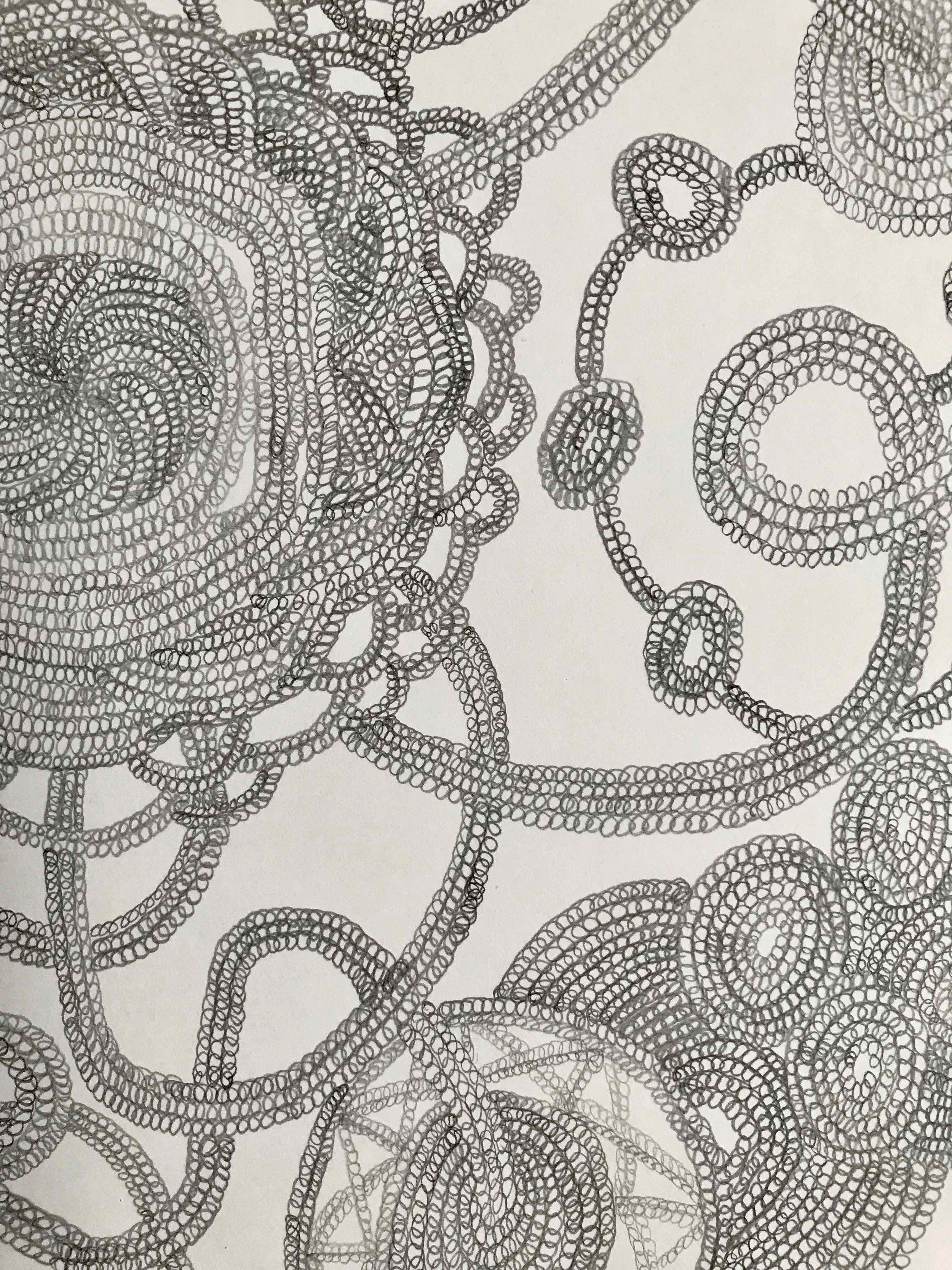 Turtegning, detalj  42x29,7cm blyant på papir 2015