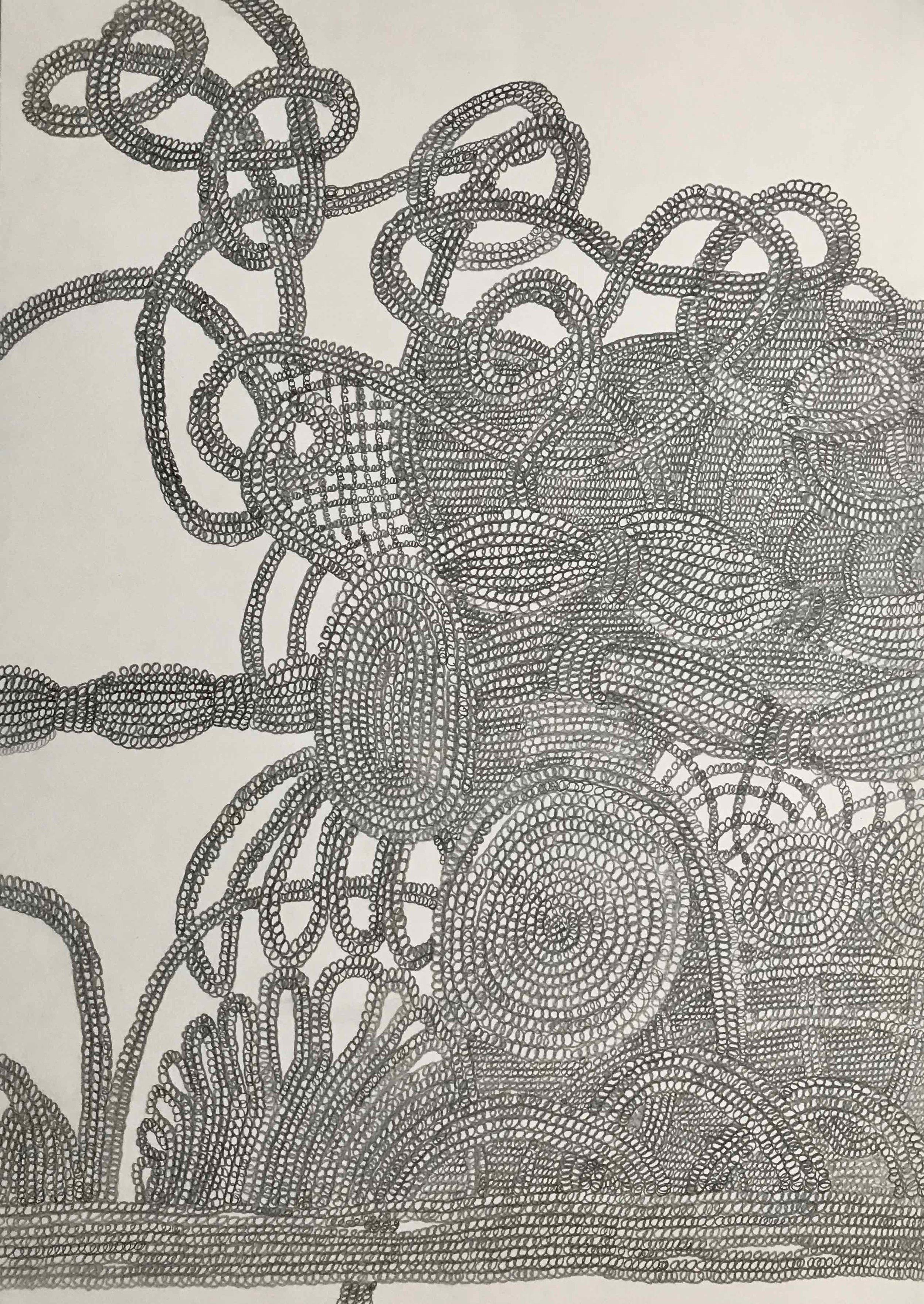 Turtegning  42x29,7cm blyant på papir 2015