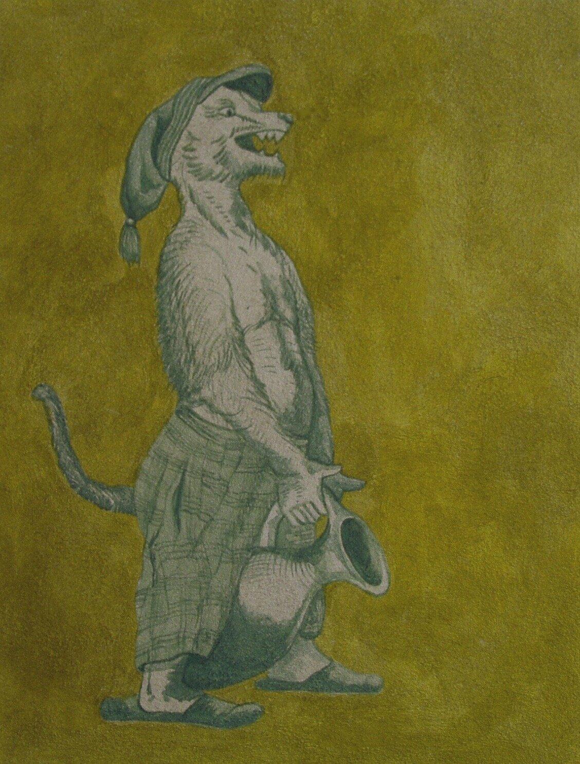 detalj fra freskoprosjektet 50x70 cm