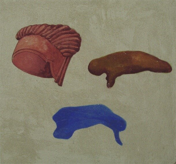 detalj fra freskoprosjektet, 50x50 cm