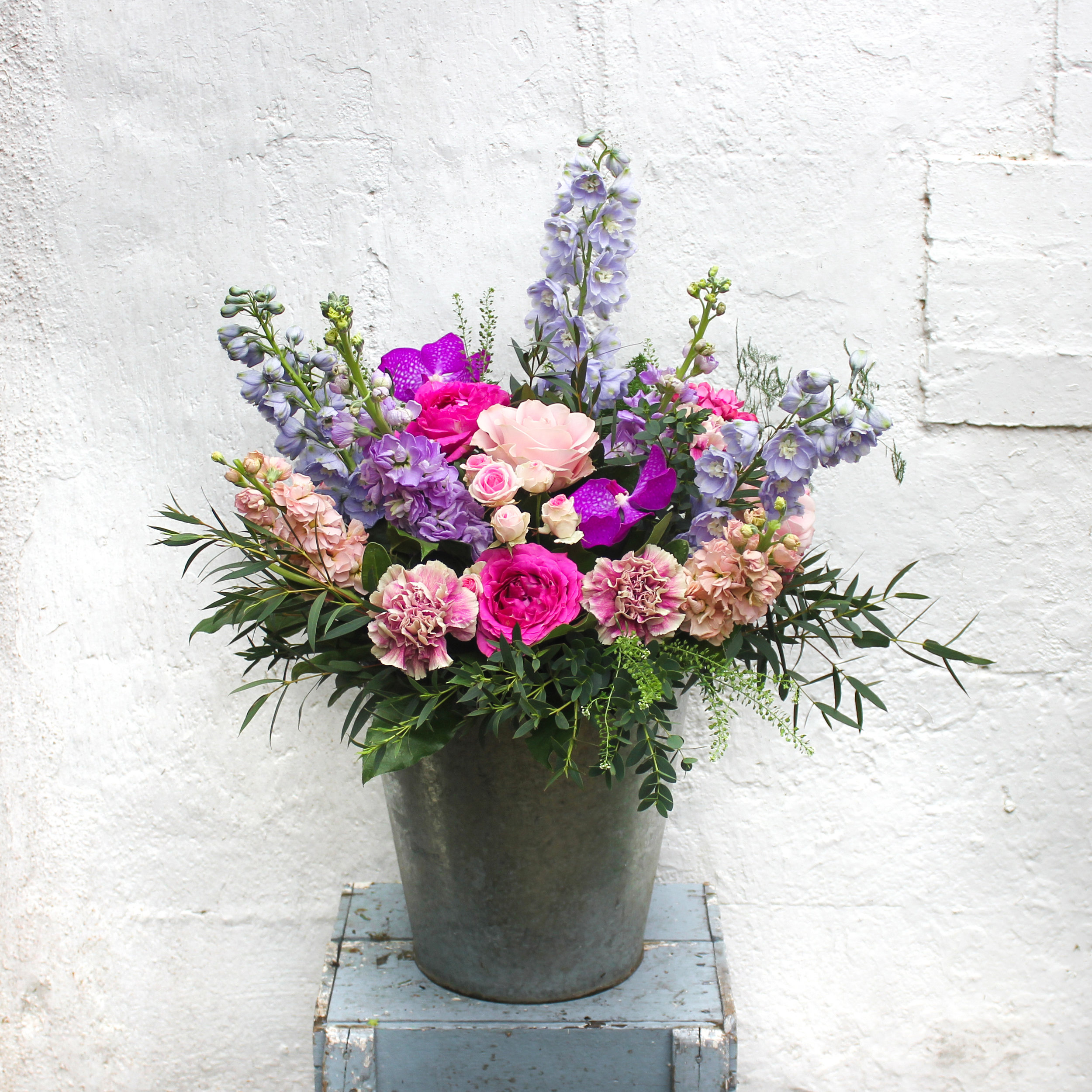 """""""Brigid"""", our beautiful pink and lilac bouquet named after the Irish goddess of Spring"""