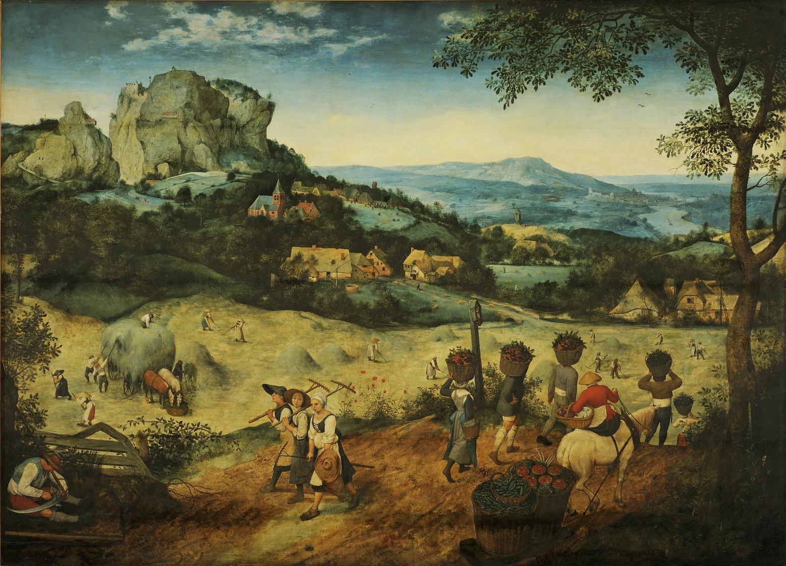 Haymaking, Pieter Bruegel the Elder 1565