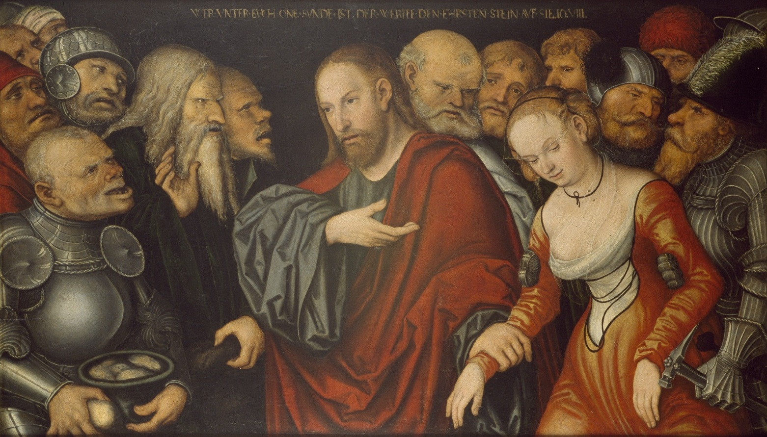 Christ and the Woman Taken in Adultery, Lucas Cranach the Younger, c. 1530