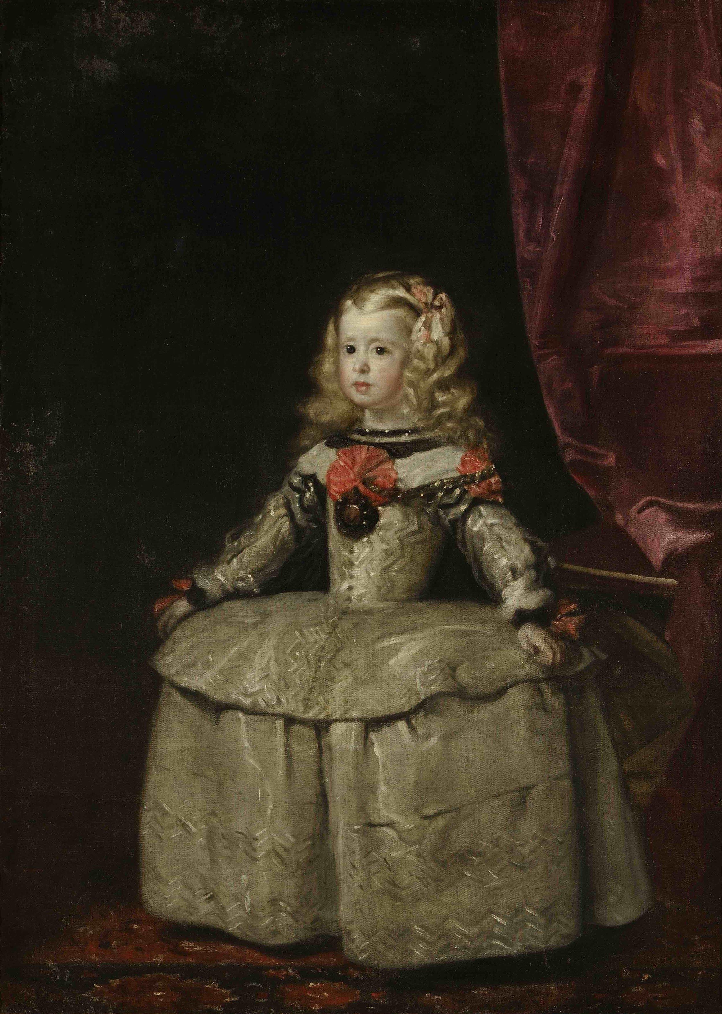 Doña Margarita Teresa, Infanta of Spain, Attributed to Diego Rodríguez de Silva y Velázquez, c. 1656