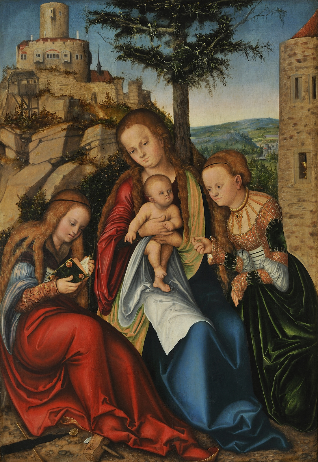 The Virgin and Child with Saint Barbara and Saint Catherine of Alexandria, Lucas Cranach the Elder, c. 1520