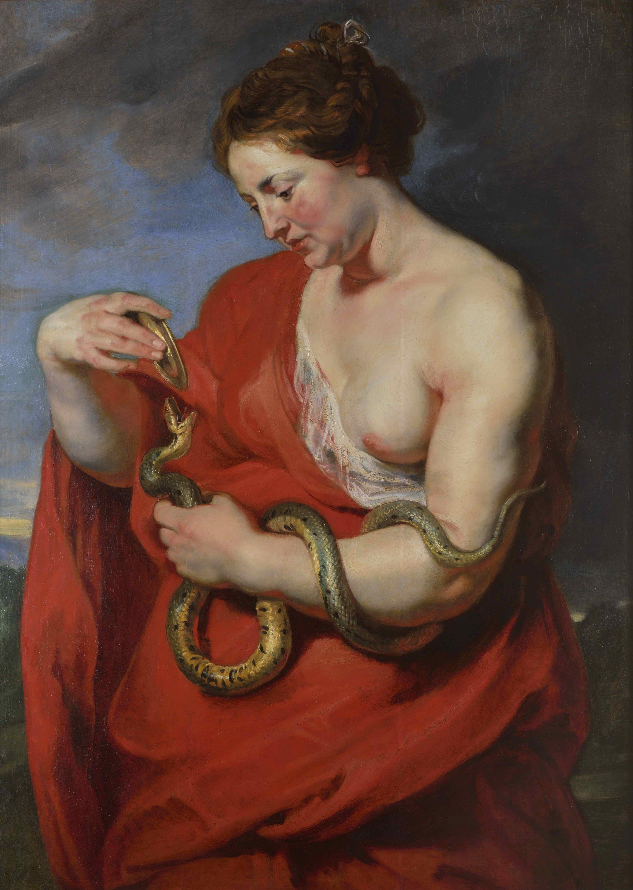 Hygieia Nourishing the Sacred Serpent, Peter Paul Rubens, c. 1614