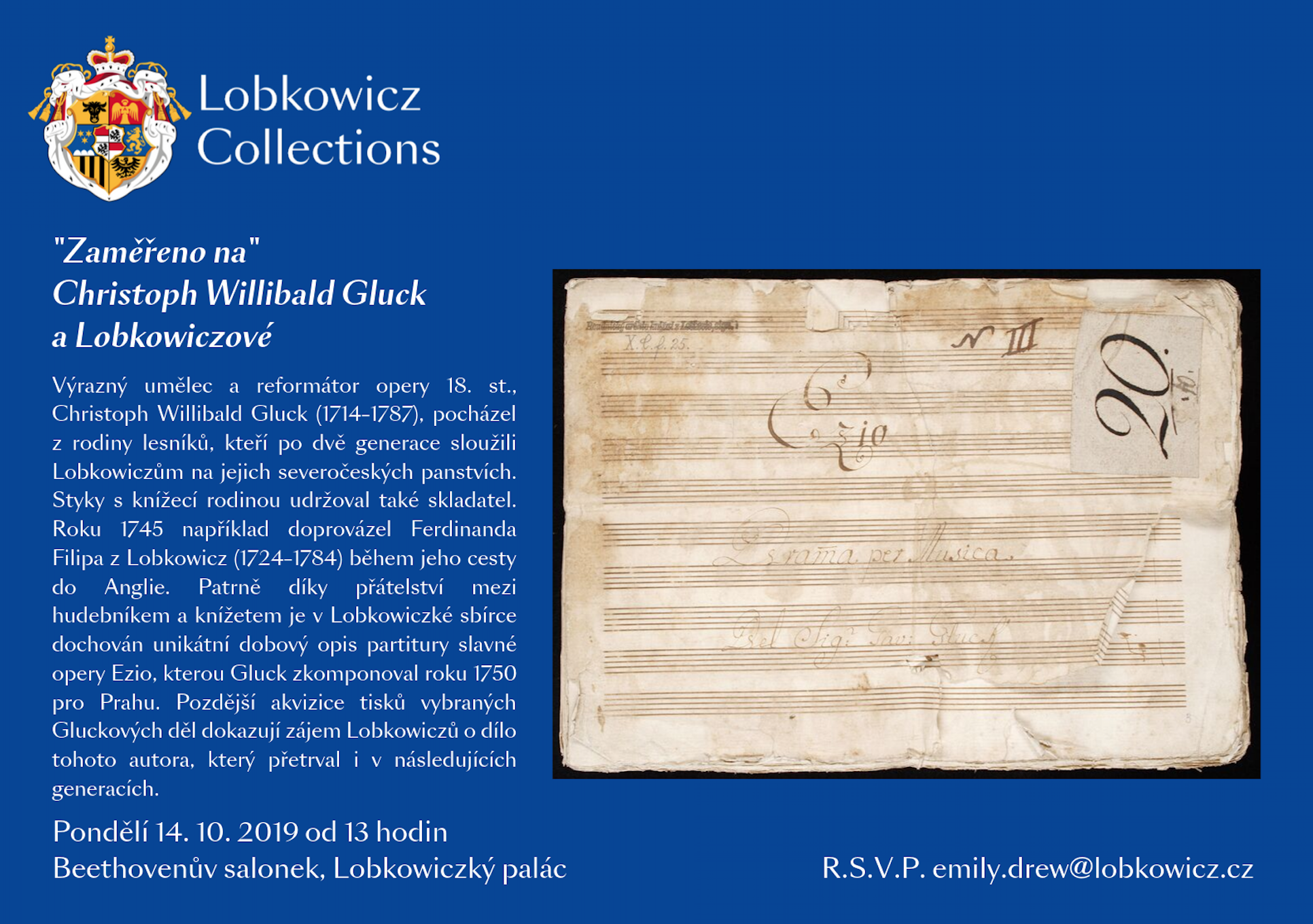 This Curator Spotlight was held in the Beethoven Room at the Lobkowicz Palace on Monday, October 14th at 13:00.