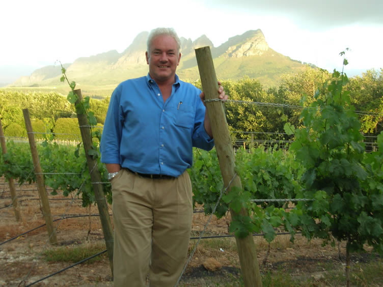 Ken Forrester among his famed vines in South Africa. Photo Credit: Wine Anorak