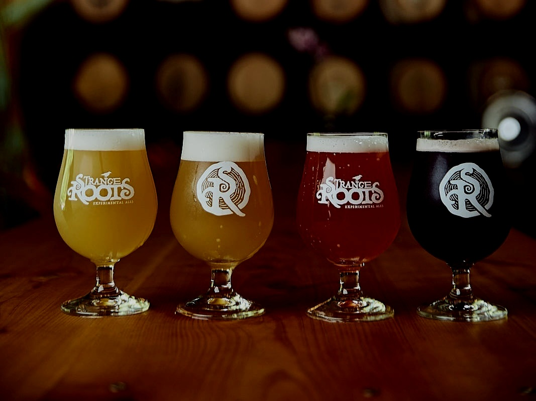 Strange RootsHappy Hour - Tuesday, April 16 | 5 - 8pm | Tria Taproom4 Strange Roots Beers for $5 each. Regular price $9Try Gewurztria, the pioneering beer-cheese-wine comboMeet Strange Roots founder-brewmaster, Dennis Hock