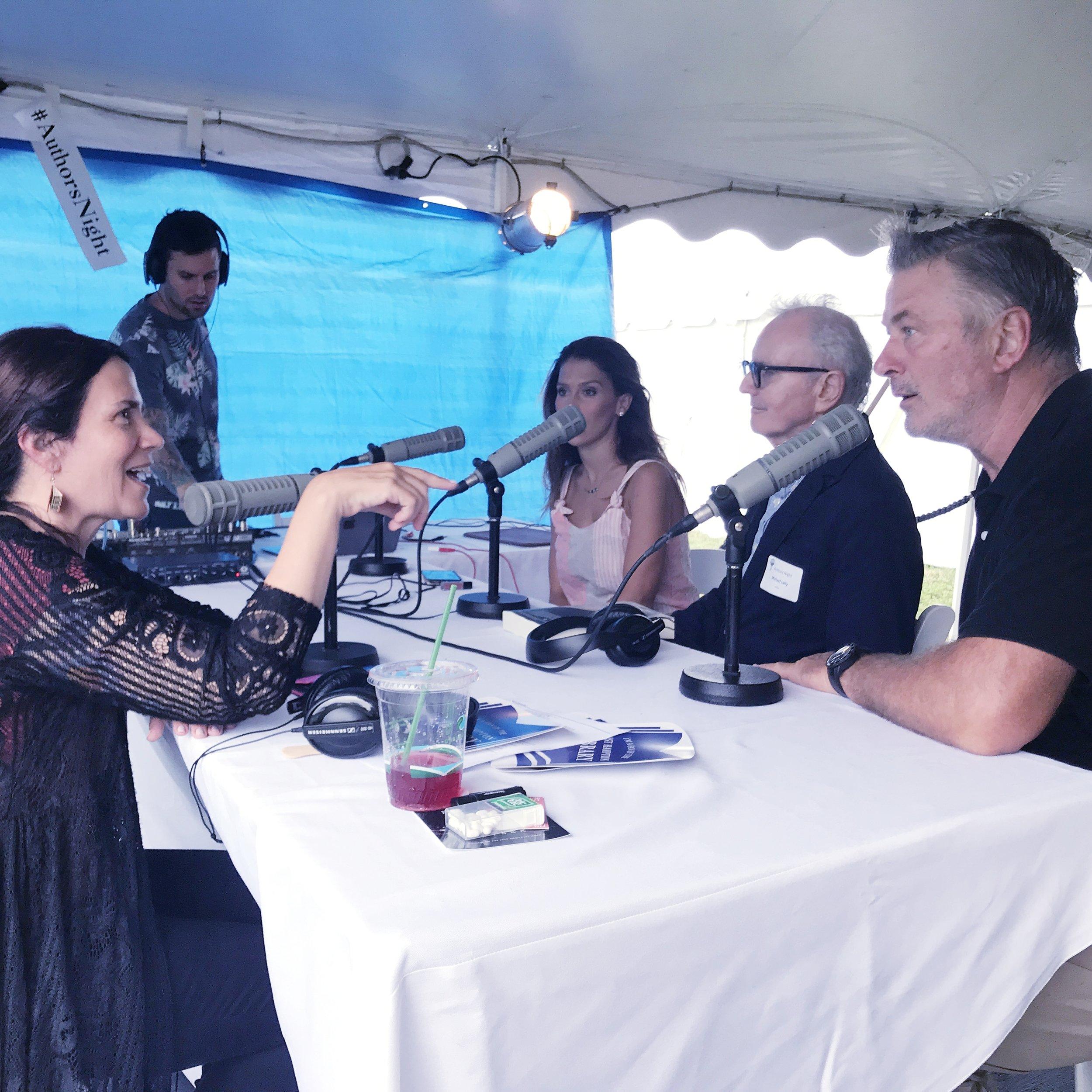 Bridget LeRoy interviewing Alec Baldwin   Photo by Lisa Tamburini