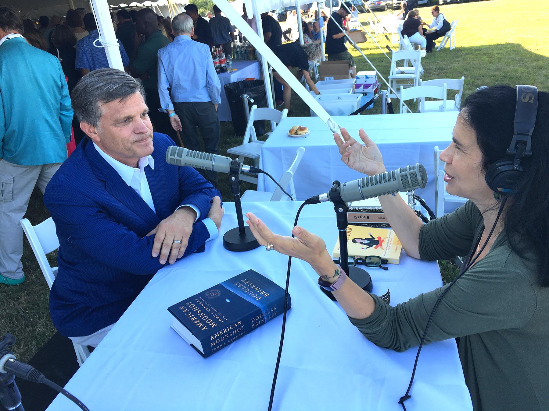 Interviewing Douglas Brinkley. Photo by Kelly Loeffler