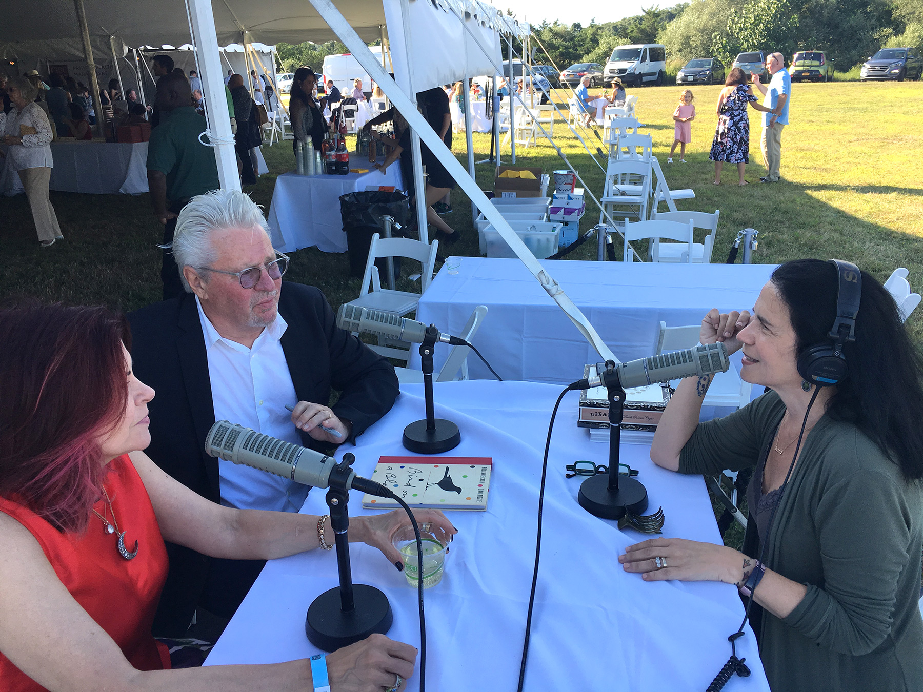 Interviewing Rosanne Cash and Dan Rizzie. Photo by Kelly Loeffler