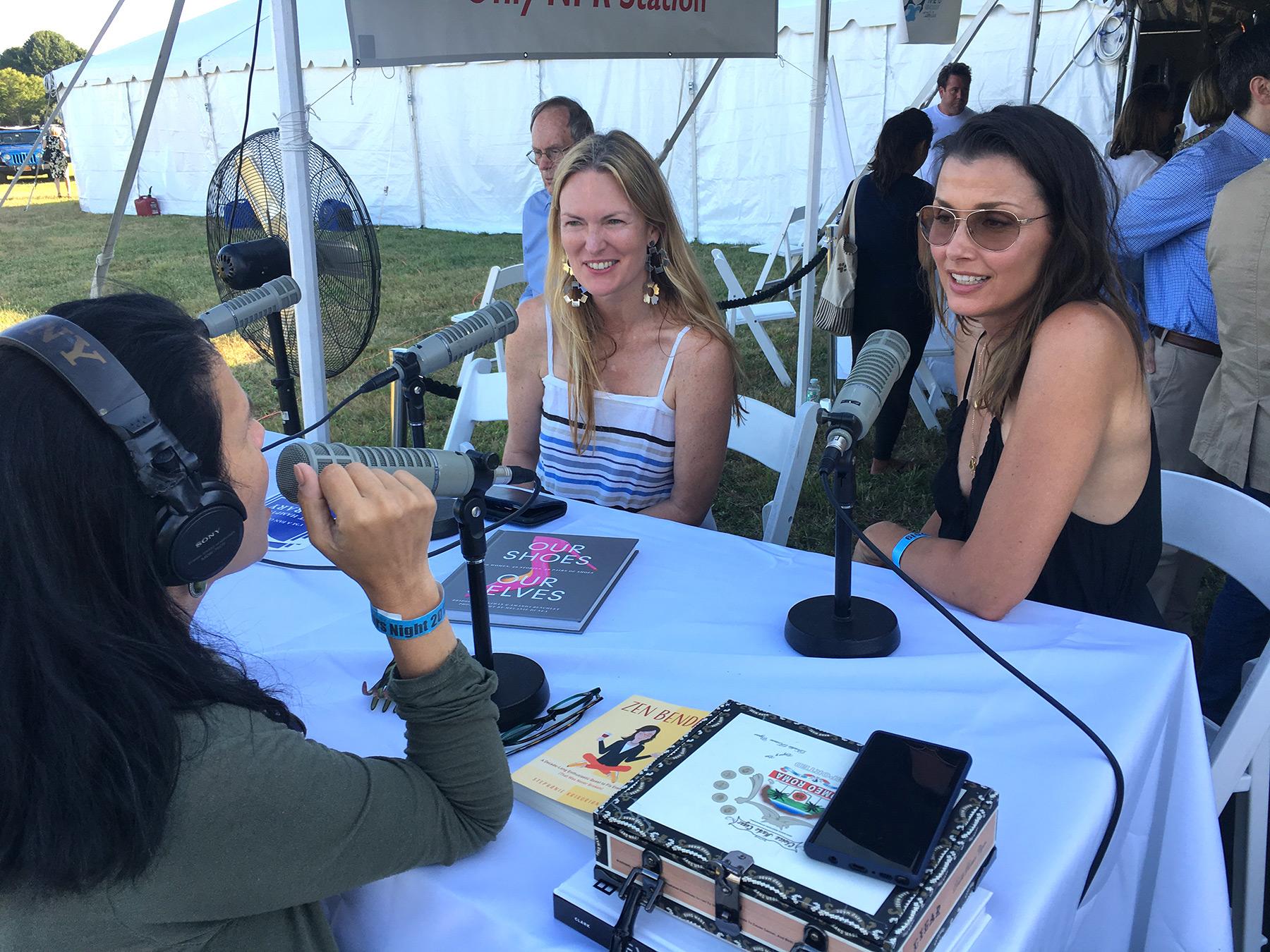 with Amanda Benchley and Bridget Moynahan. Photo credit: Kelly Loeffler