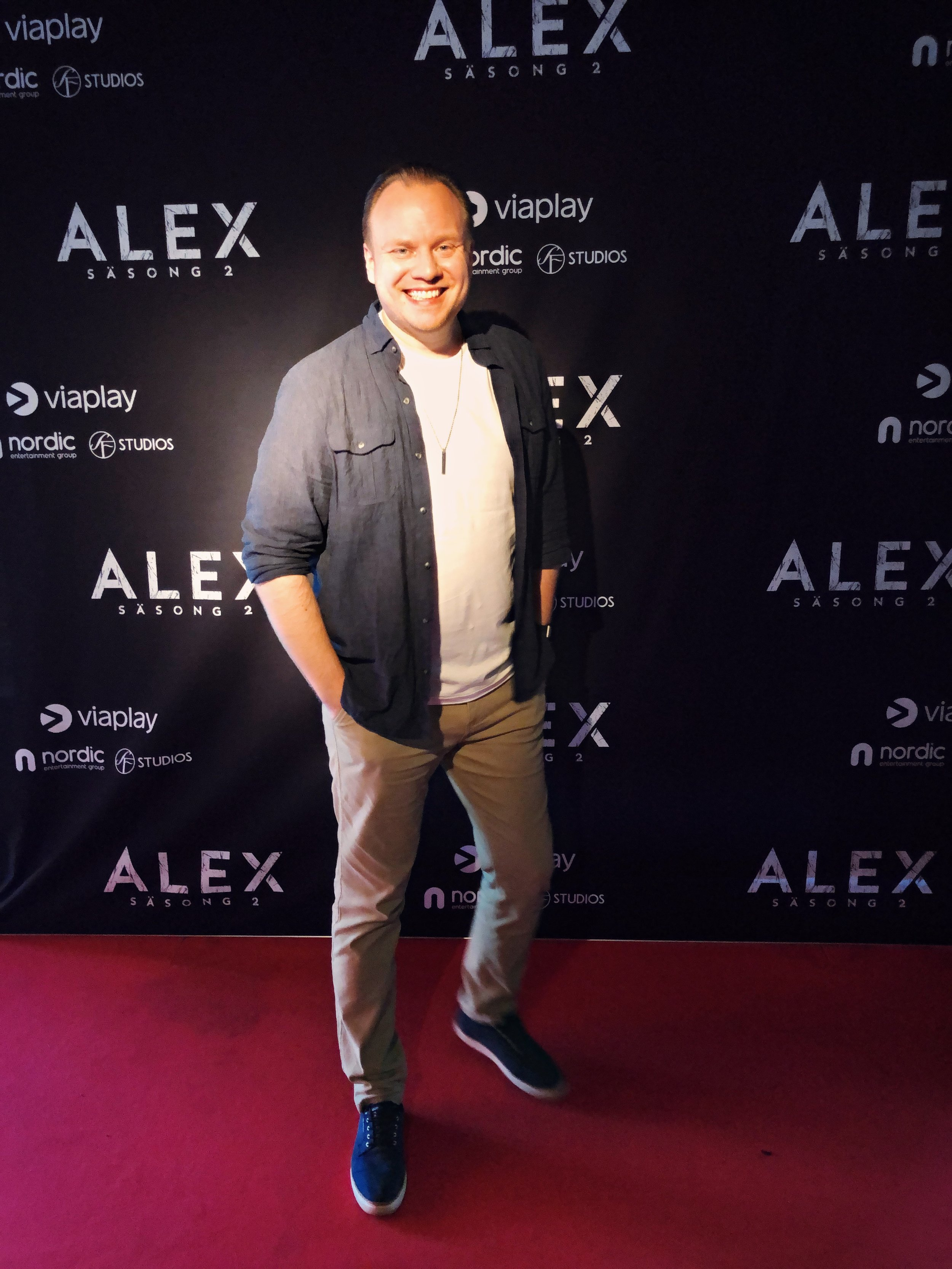 Mikael Cross at the red carpet premiere of ALEX season 2.