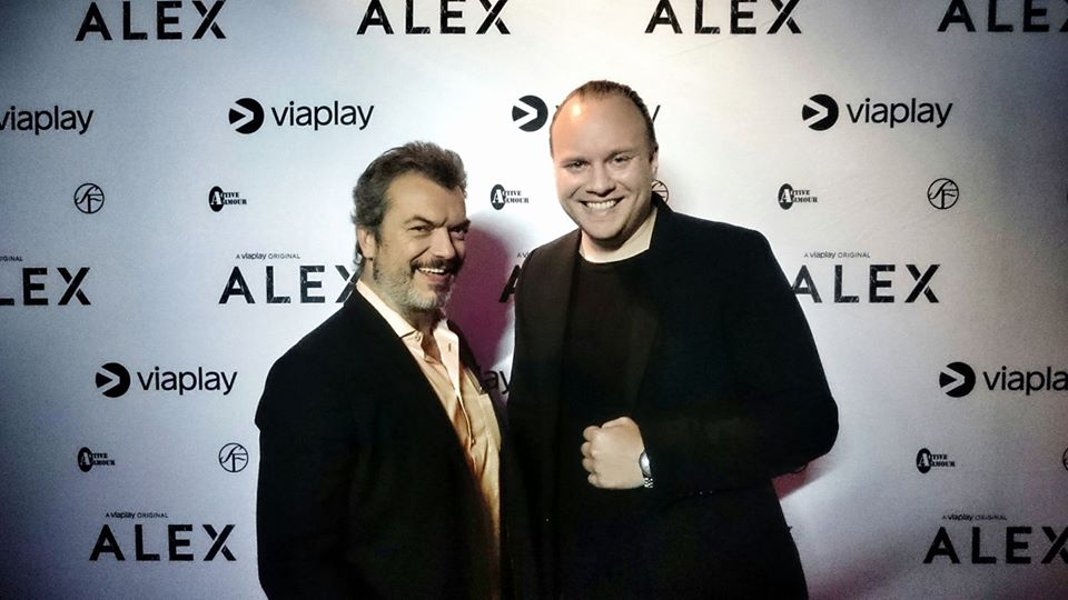 Actor  Dragomir Mrsic  and  Mikael Cross  on the premiere of  ALEX  season 1