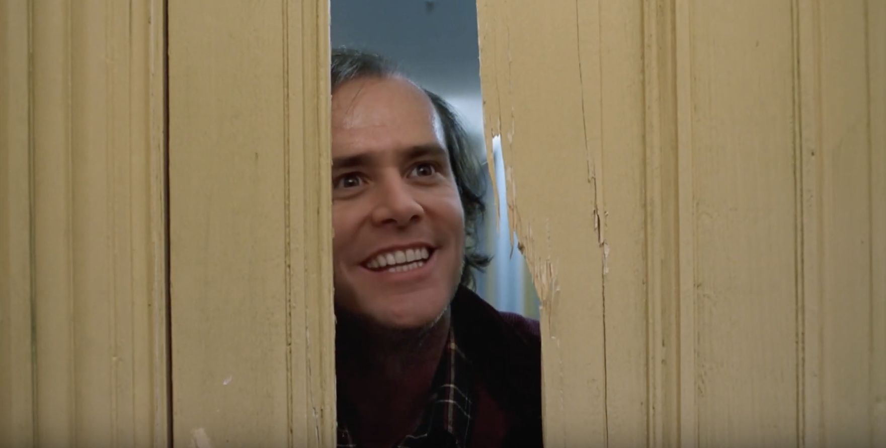 "Wait..What? Jim Carey in the ""Shining""?"