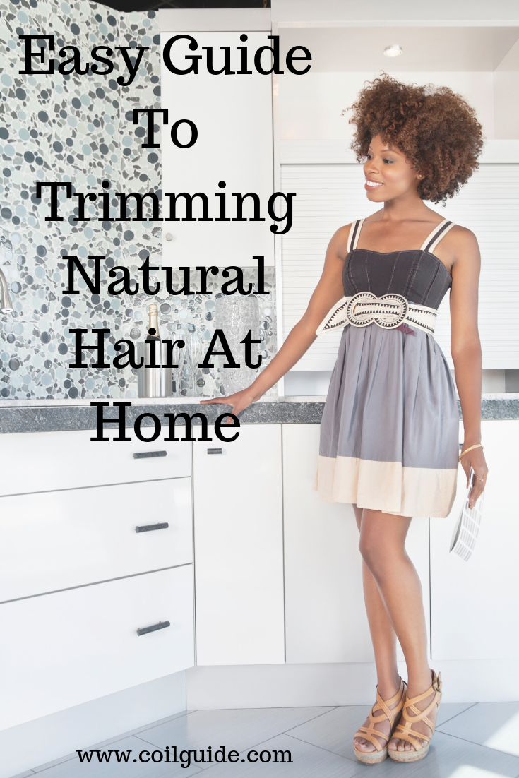 Trimming natural hair at home doesn't have to be difficult. In fact, you can even trim your hair at home. Continue reading to learn how to cut split ends and get rid of knots! #beauty #hair #haircare #naturalhair #trimminghair #naturalhairtips