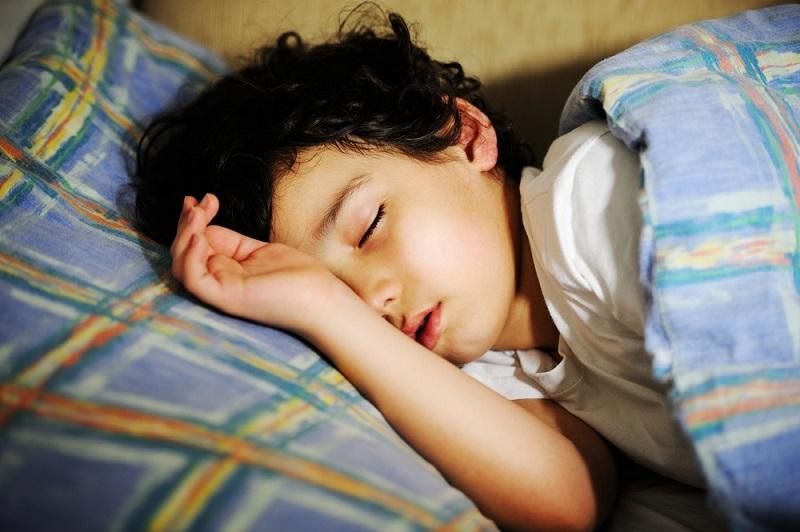 A child in deep sleep