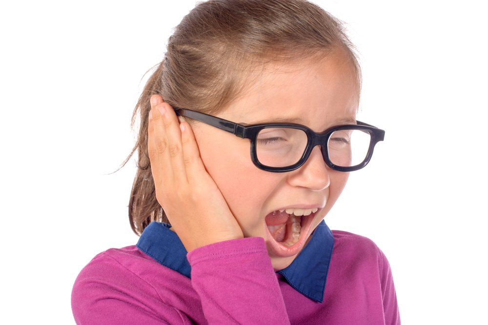 A girl with hearing loss issue