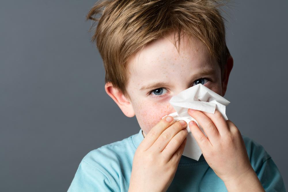 Child with allergic behavior