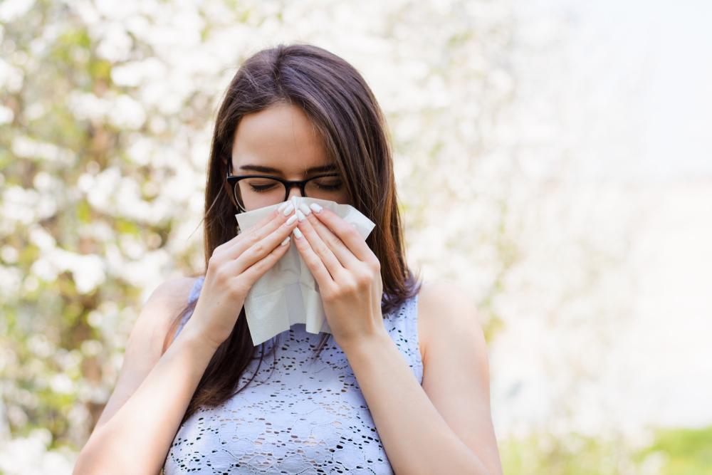 An allergic woman