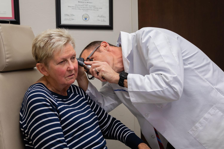 Edmond ear inspection