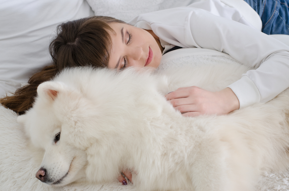 Sleep with dog